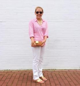 Gingham-+-White-Jeans-1